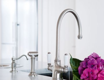 select the traditional kitchen tap bestselling phoenician or ionian with porcelain white handles for a truly timeless look or perhaps opt for