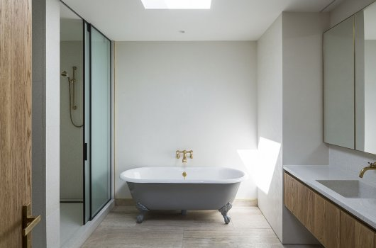 this modernist home by julian guthrie recently sold for 18 million the house in aucklands hobson bay explores the blurring of indoor and outdoor living - Bathroom Design Ideas Nz