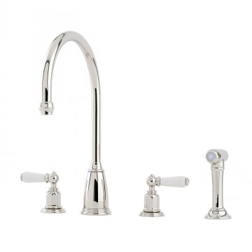 perrin and rowe. Perrin \u0026 Rowe - ATHENIAN Four Hole Sink Mixer With Porcelain Levers And Spray Rinse R