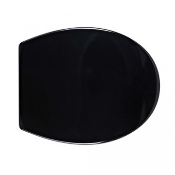 black and white toilet seat. In Residence  Black Duroplast toilet seat with soft close hinges Perrin Rowe quality seats available in standard or custom