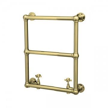 HYDRONIC - Traditional Wall Mounted Towel Warmer in Satin Brass