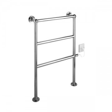 ELECTRIC - Traditional Floor Mounted Towel Warmer in Pewter