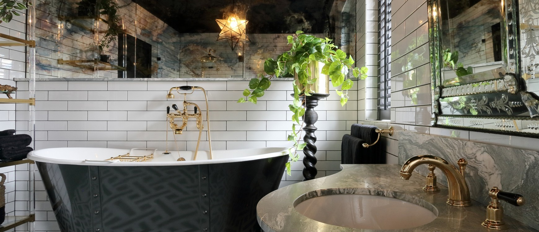 Hollywood Regency Inspired Bathroom Design In This